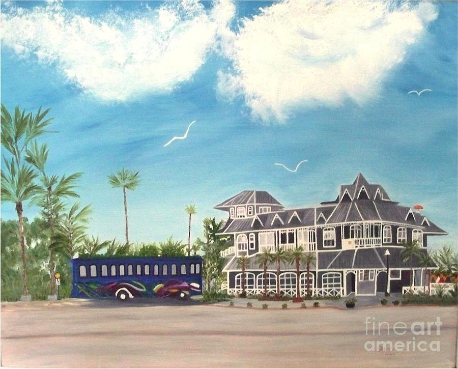Hurricane Restaurant Pass A Grill Florida Painting by Peggy Holcroft