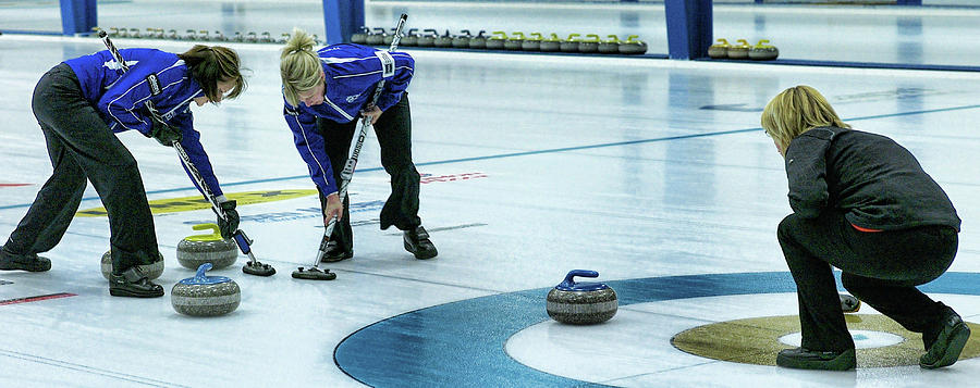Curling Photograph - Hurry Hard by Lawrence Christopher