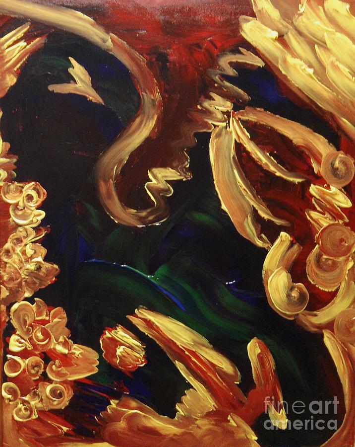 Abstract Painting - Hurt Hug by Karen L Christophersen