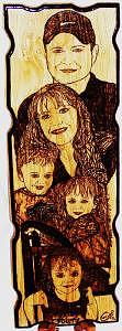Solid Oak Drawing - Hurts Family Portrait From Five Different Photos by Marla Gebhardt