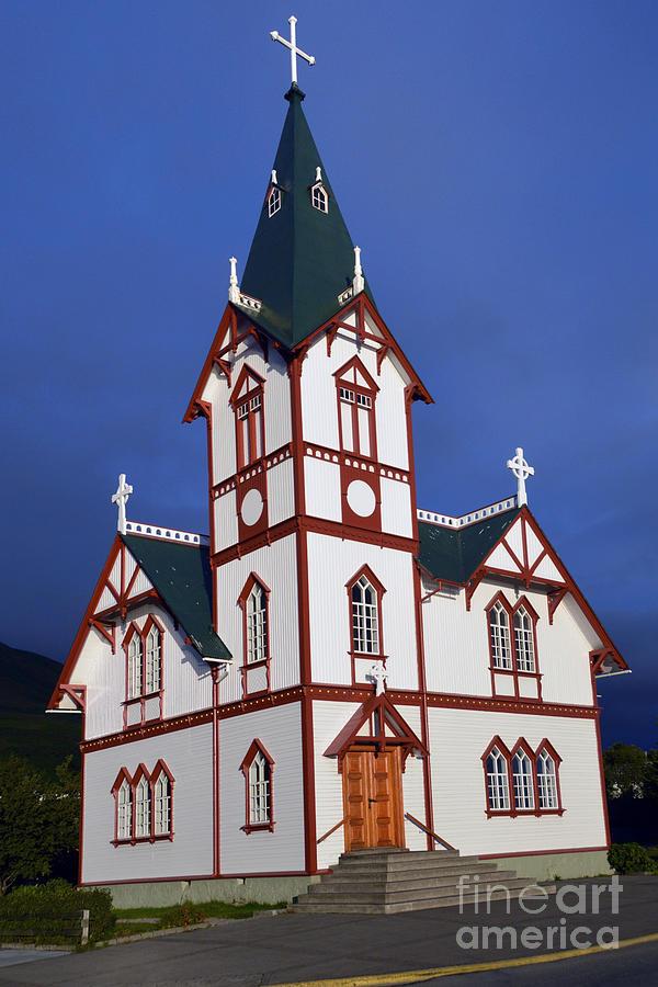 Husavik Lutheran Church Photograph