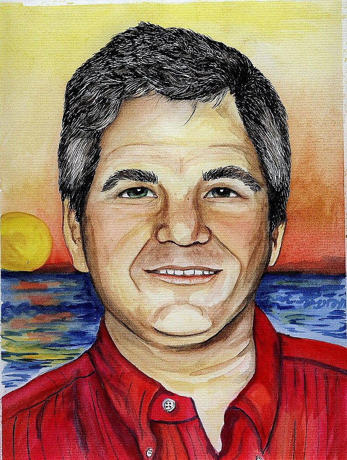 Portrait Painting - Husband by Anita Banks Ambrister