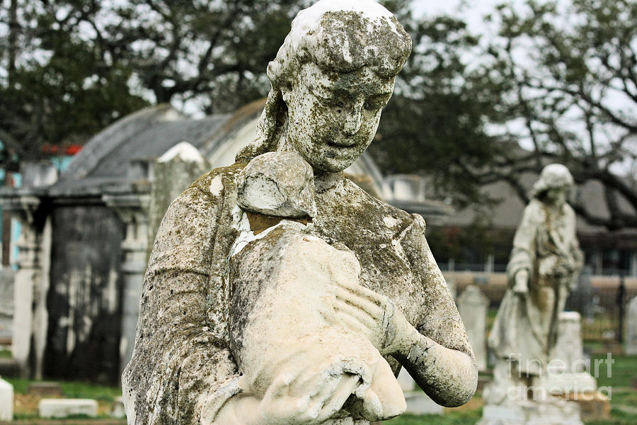 Cemetery Photograph - Hush Little Baby by Lucky LaRue