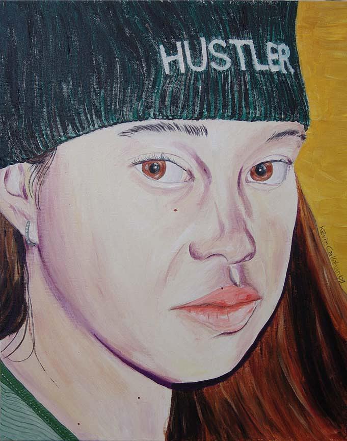 Kevin Callahan Painting - Hustler Girl by Kevin Callahan