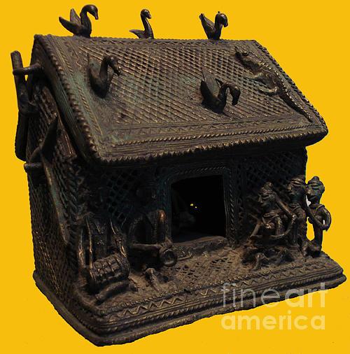 Bronze Sculpture - Hut  by Govind Zara