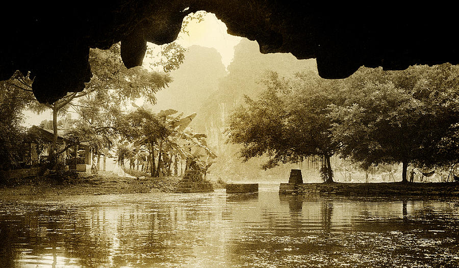 Tam Coc Photograph - Hut In Tam Coc From A Cave River by Weston Westmoreland
