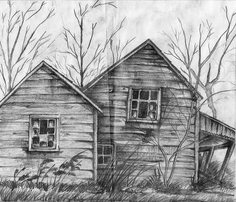 hut Drawing by Suman Ghosh