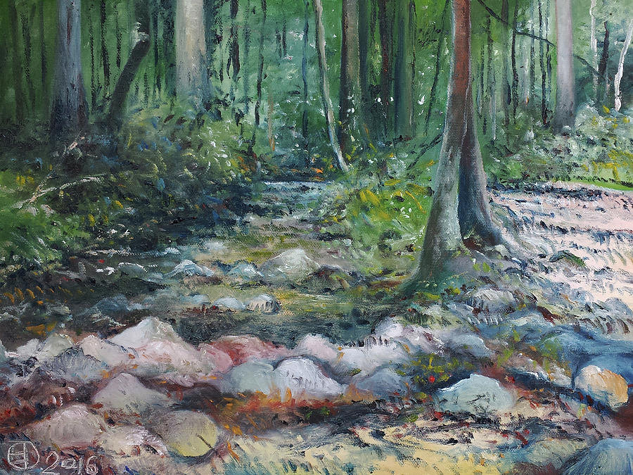 Impressionism Painting - Hutan Perdic Forest Malaysia 2016 by Enver Larney