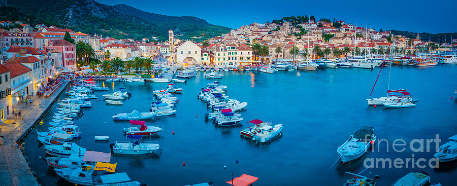 Adriatic Photograph - Hvar Panorama by Inge Johnsson