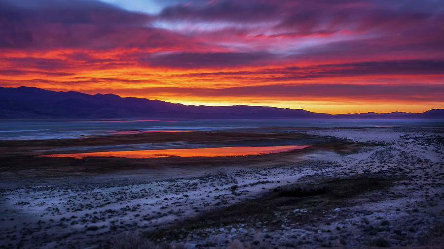 Sunrise Photograph - Hwy 395 Sunrise by Steve Spiliotopoulos