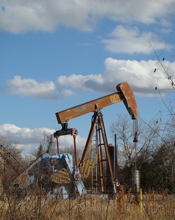 Landscape Photograph - Hwy 71 Oil Well by Ana Villaronga