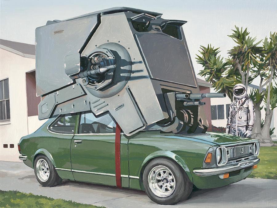 Astronaut Painting - Hybrid Vehicle by Scott Listfield