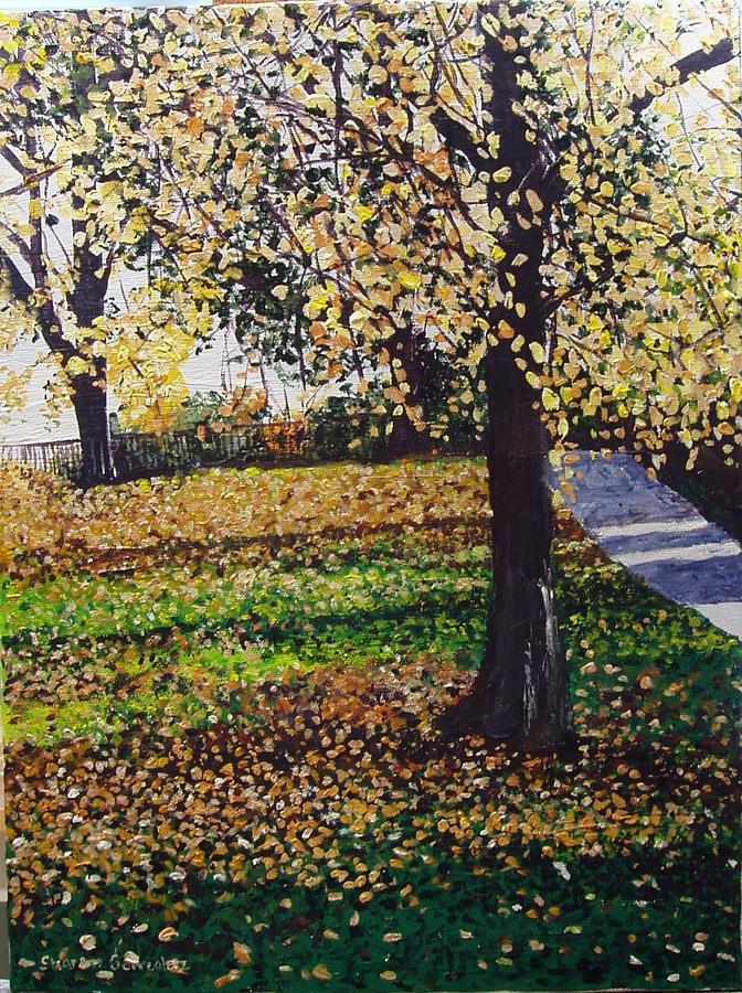 Uk Painting - Hyde Park London by Sharon  De Vore