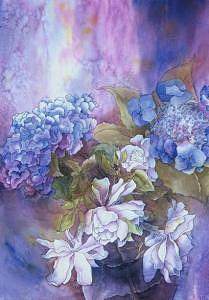 Hydrangea Painting by Judy Shantz Honey