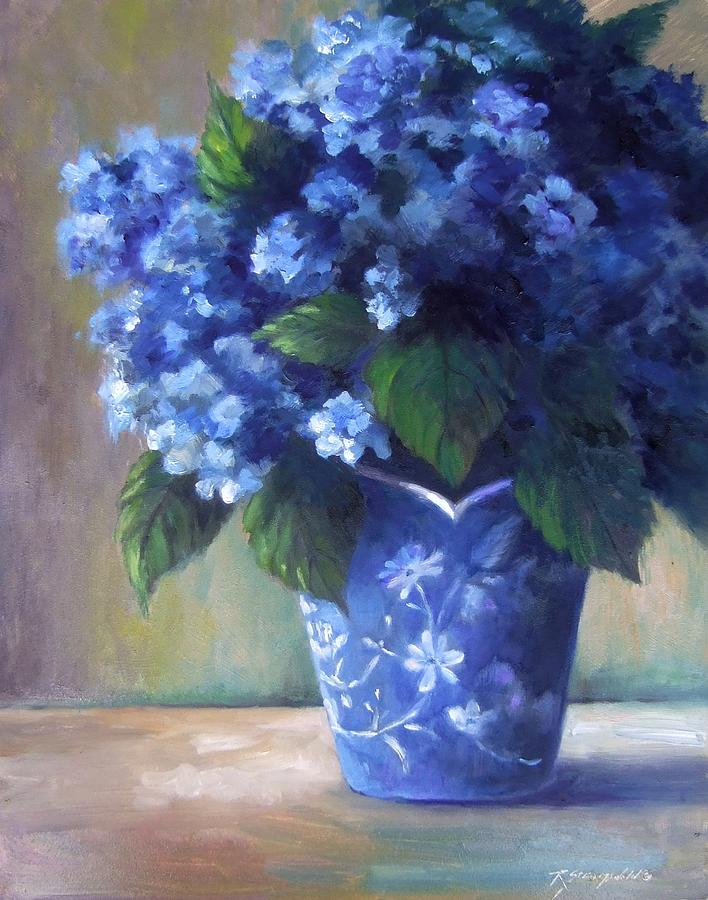Flowers Painting - Hydrangea Study by Ruth Stromswold