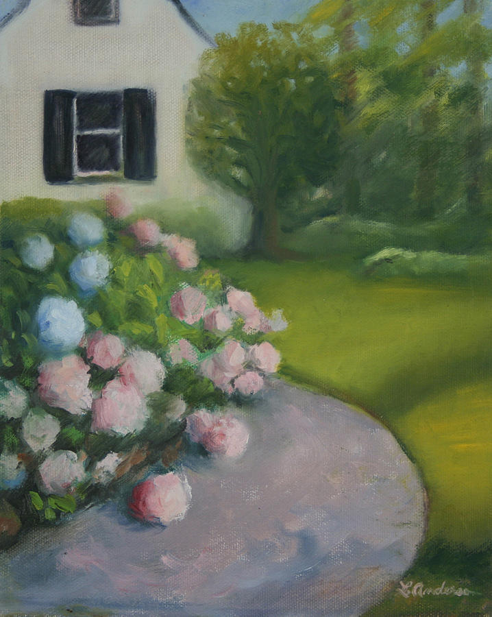 Hydrangeas Painting by Linda Anderson