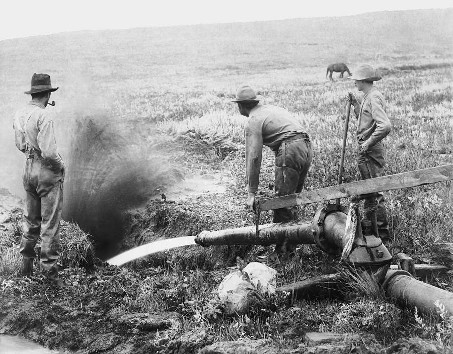 South Dakota Photograph - Hydraulic Gold Mining C. 1889 - S. Dakota by Daniel Hagerman