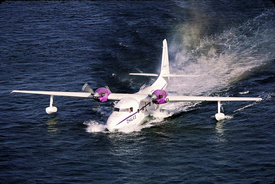 Seaplane Photograph - Hydroplane Splashdown by Sally Weigand