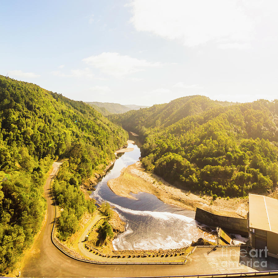 Energy Photograph - Hydropower Valley River by Jorgo Photography - Wall Art Gallery