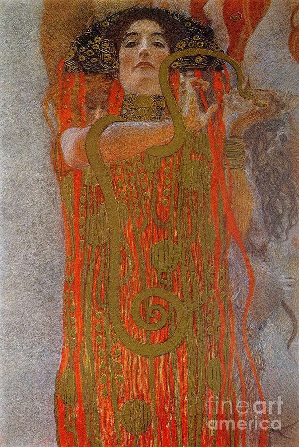 Hygieia Painting - Hygieia by Gustav Klimt