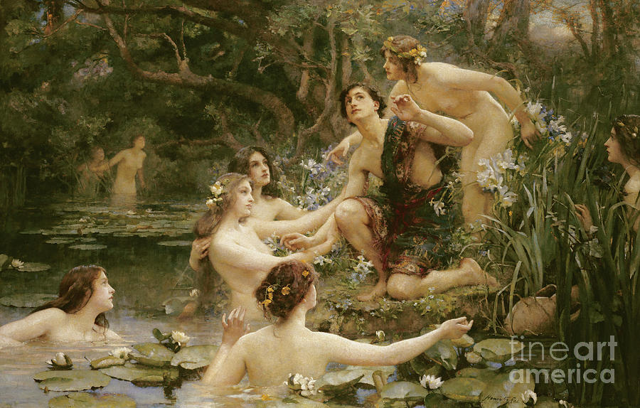 Hylas Painting - Hylas And The Water Nymphs by Henrietta Rae
