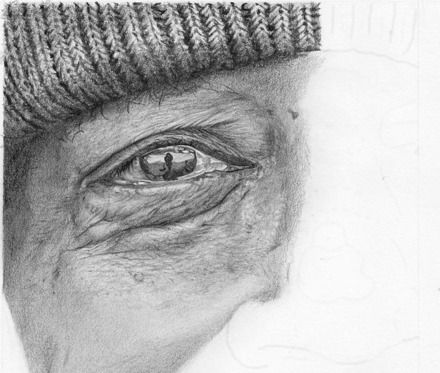 Pencil Drawing Hyper Realistic Eye Study By Nolan Clark