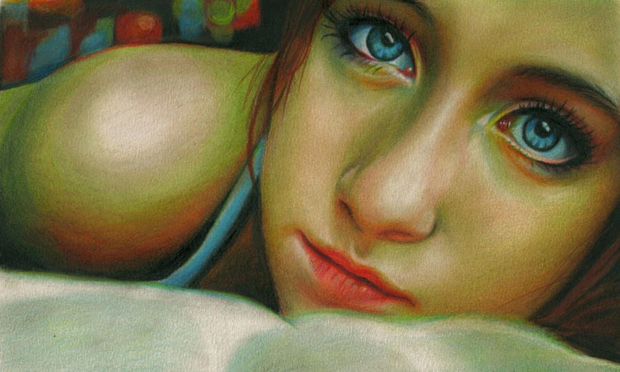 Girl Drawing - Hypnotic by Brian Scott