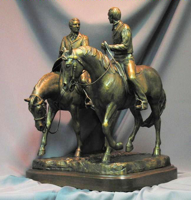Hyrum Smith Sculpture - Hyrum And Joseph Smith Statue by Stan Watts and Kim Corpany