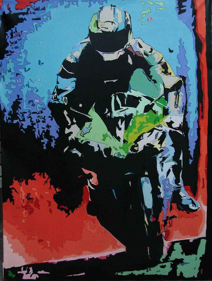 Bike Painting - I-22 by Sharad Bhatia