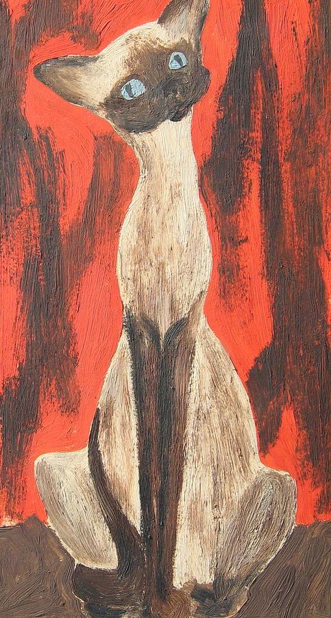 I Am A Siamese If You Please Painting by Marsha Elliott