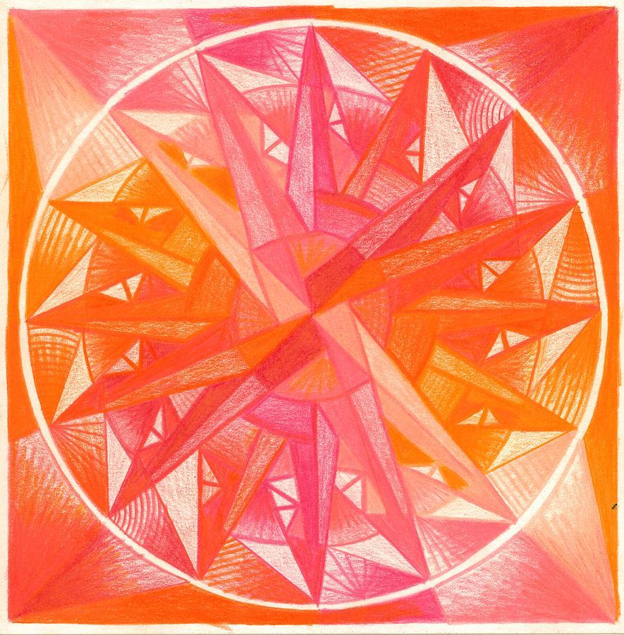 Mandala Drawing - I Am Alive by Ulla Mentzel