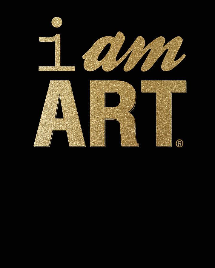 Gold Mixed Media - I Am Art- Gold by Linda Woods