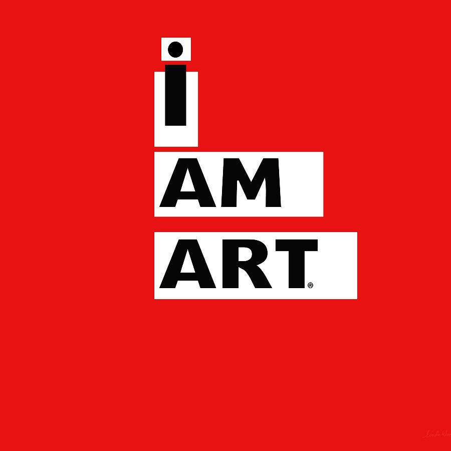 Design Digital Art - I AM ART Stripes- Design by Linda Woods by Linda Woods