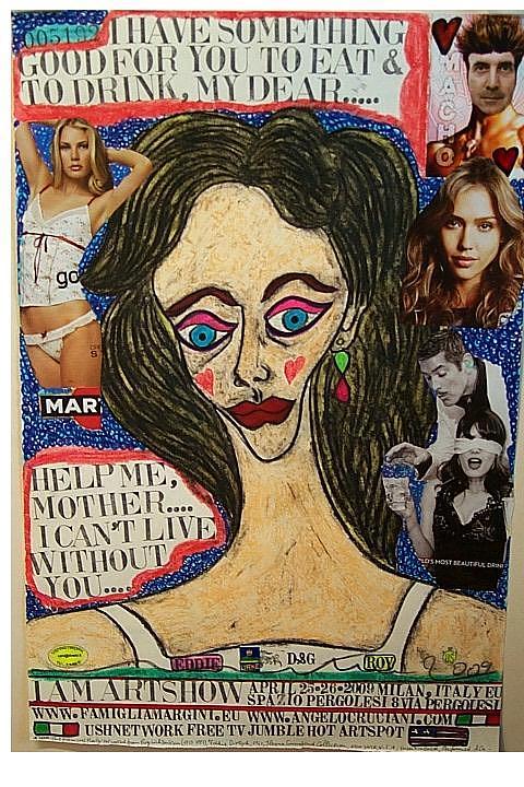 Eddie Diptich Roy Lichtenstein  Mixed Media - I Am Artshow Milano  by Francesco Martin