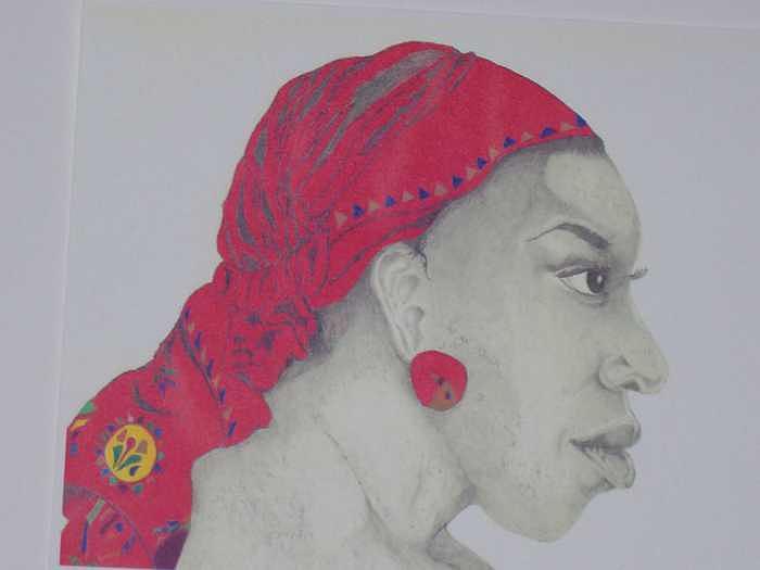 African American Woman Drawing - I am Beautiful by Glenn Isaac