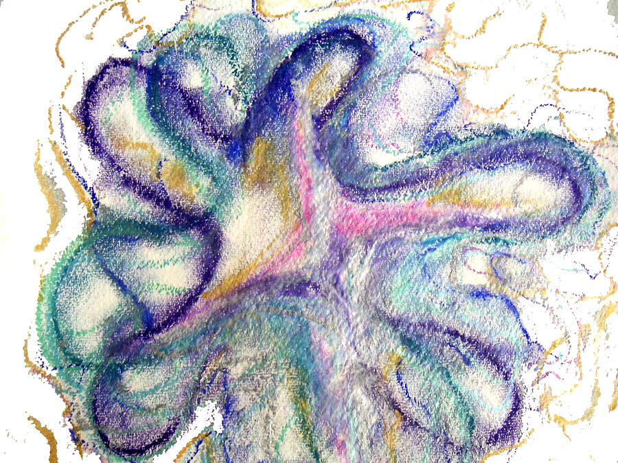 Abstract Pastel - I Am God by Erika Brown