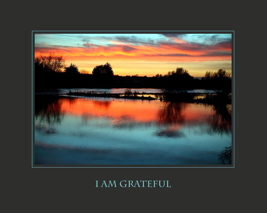 Motivational Photograph - I Am Grateful by Donna Corless