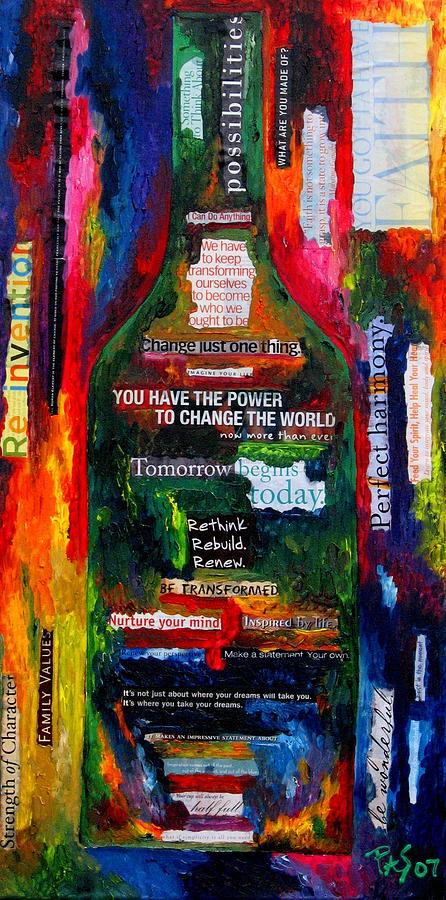 Wine Painting - I Am Inspired by Patti Schermerhorn