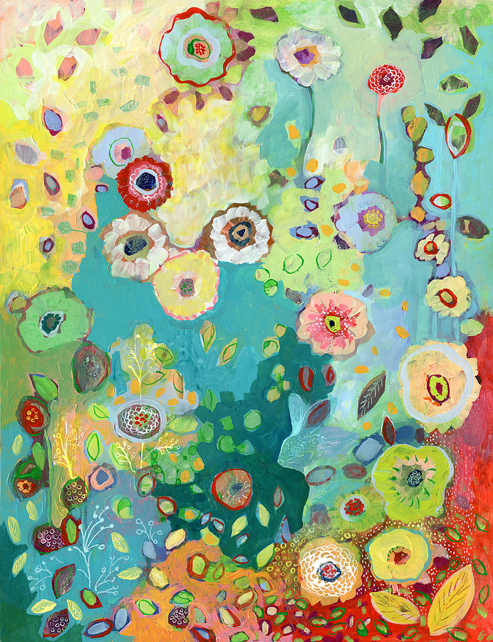 Floral Painting - I Am by Jennifer Lommers
