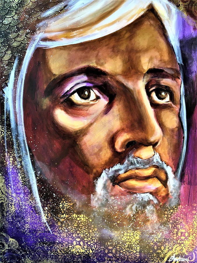Jesus Painting - I Am Joshua by Amoroqie Art