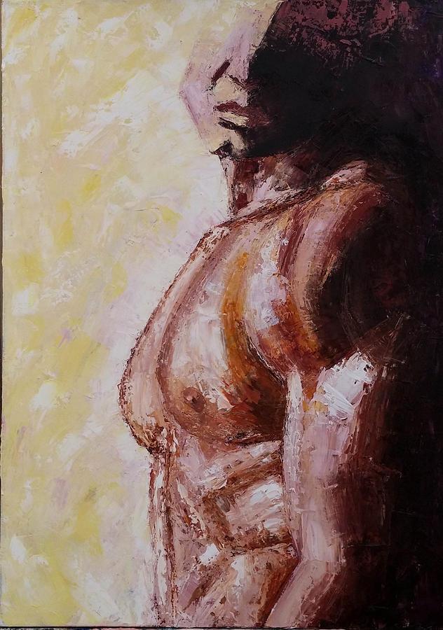 Man Painting - I Am Kareem by Leena Kewlani