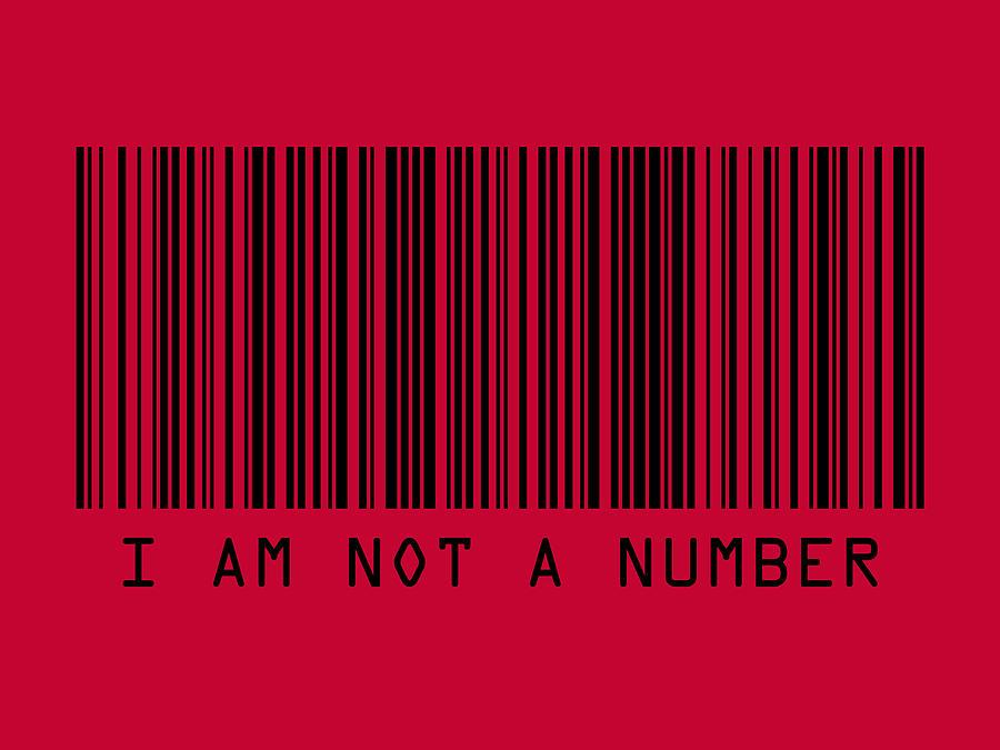 Barcode Digital Art - I Am Not A Number by Michael Tompsett