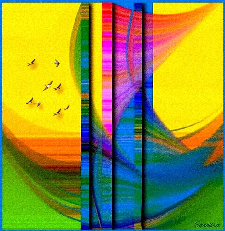 Birds Digital Art - I Am Sailing by Carola Ann-Margret Forsberg
