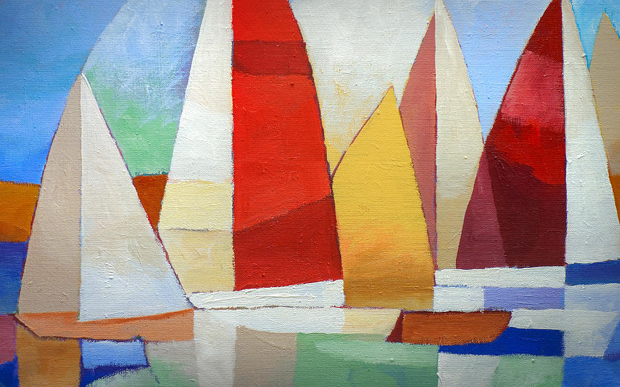 Xl Painting - I Am Sailing X L by Lutz Baar