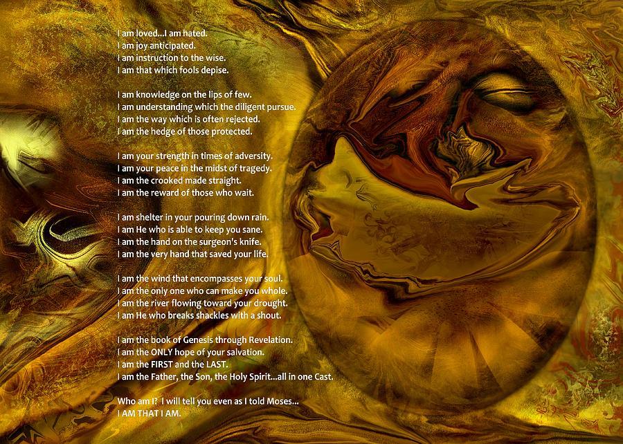 Digital Prints Digital Art - I Am by Sistah J