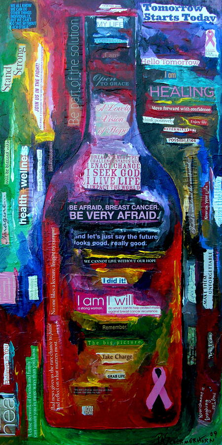 Breast Cancer Painting - I Am Strong by Patti Schermerhorn