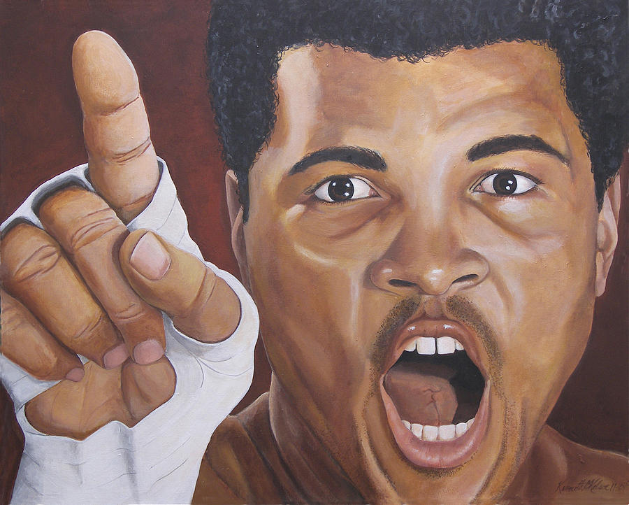 Ali Painting - I Am The Greatest 2 by Kenneth Kelsoe