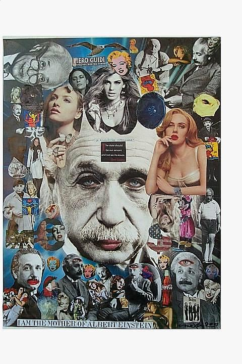 Scarlett Johansson Mixed Media - I Am The Mother Of Albert Einstein by Francesco Martin