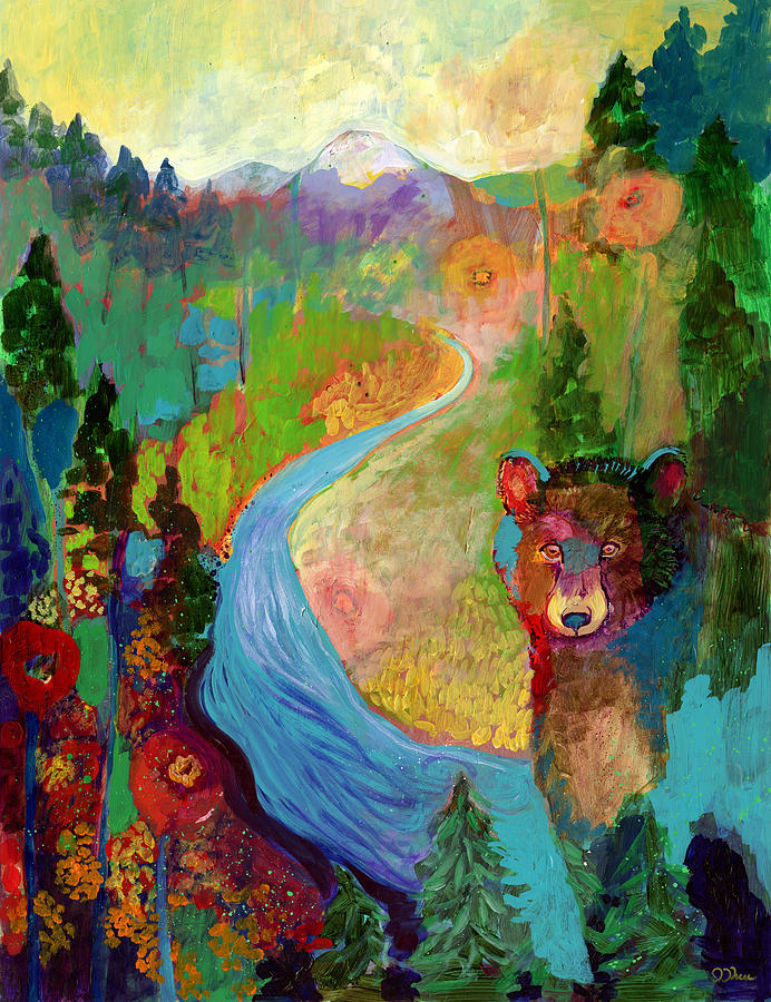 I Am The Mountain Stream Painting