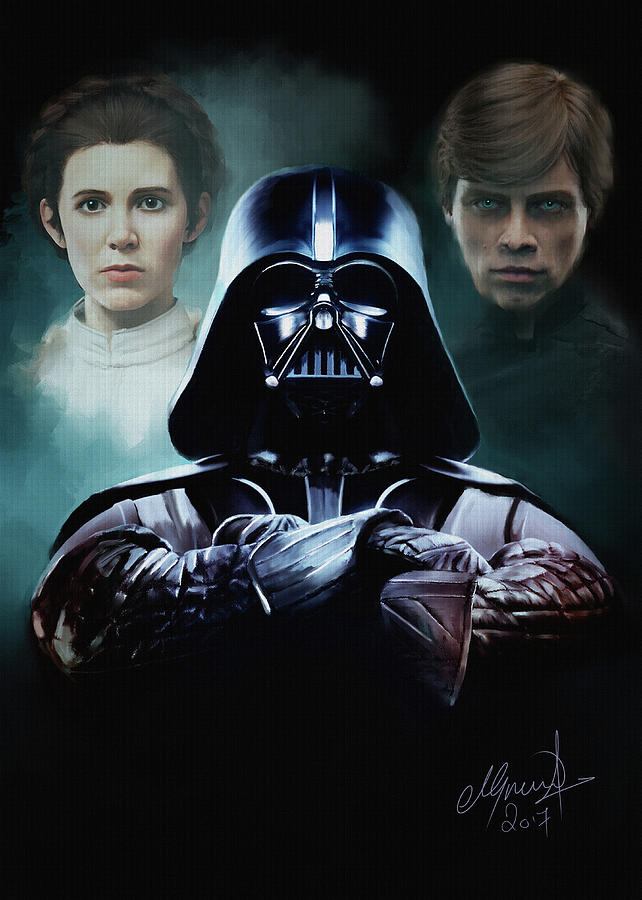 Darth Vader Digital Art - I Am Your Father by Michael Greenaway